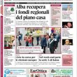 ANTEPRIMA. La copertina di Gazzetta d'Alba in edicola da martedì 1° aprile 2014