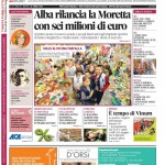 ANTEPRIMA. La copertina di Gazzetta d'Alba in edicola da martedì 22 aprile 2014