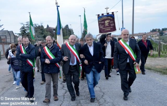 Sergio Chiamparino alle manifestazione per il 25 aprile a Treiso.