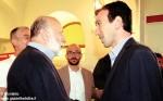 Il ministro Maurizio Martina con Carlin Petrini all'Università degli Studi di Scienze Gastronomiche di Pollenzo.