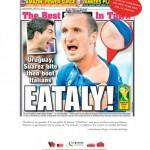 Il morso di Suarez a Chiellini ispira la pubblicità di Eataly