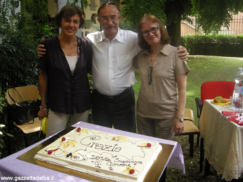 Piercarlo Rovera con le vicepresidi Annalisa Anolli e Alma Morando.