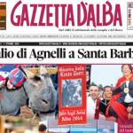 La copertina di Gazzetta d'Alba del 7 ottobre 2014