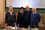 Aldo Cazzullo in San Bernardino nel 2013, con Gian Mario Ricciardi, Francesca Cravero e Andrea Cane