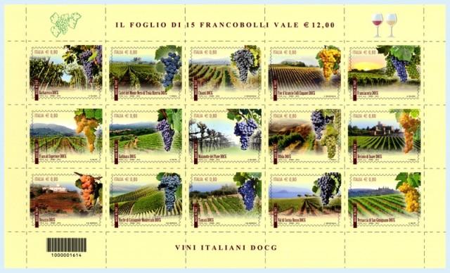 francobolli vino