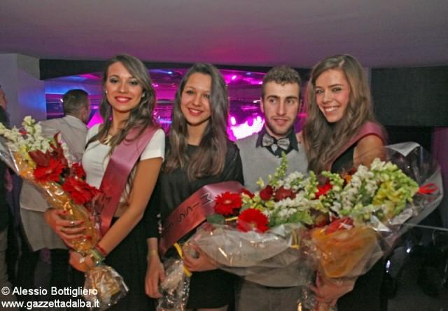 Da sinistra: Marta Gramaglia, miss Enotria Simona Dogliani, Matteo Laiolo e Martina Quagliato.