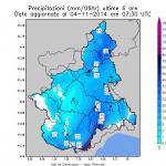 Meteo, forti precipitazioni nelle valli Tanaro e Bormida