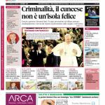La copertina di Gazzetta d'Alba del 2 dicembre 2014