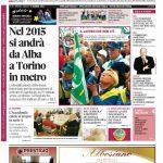 La copertina di Gazzetta d'Alba del 9 dicembre 2014