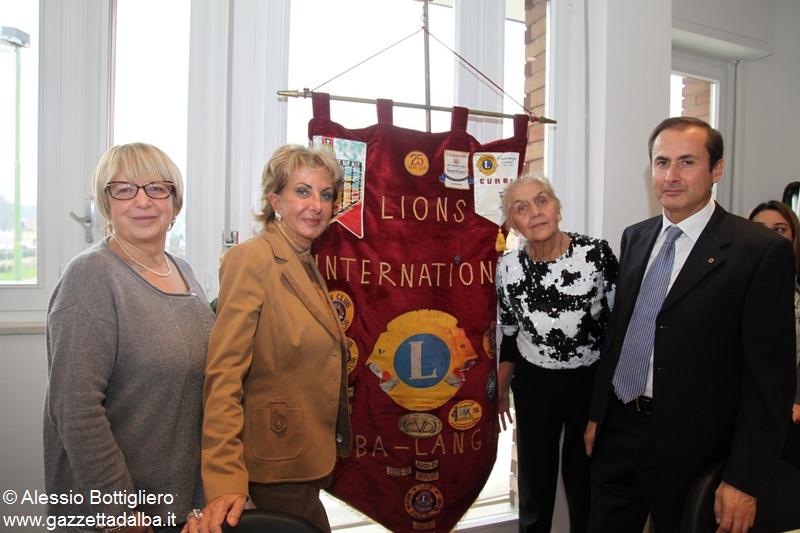Da sinistra la segretaria Silvana Bertello, la cerimoniera Mary Monte, il presidente Gionni Marengo e il censore Giovanna Bergui
