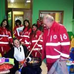 La Befana della Croce rossa visita ai bimbi ricoverati ad Alba