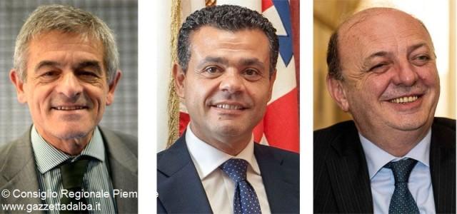 Da sinistra: Sergio Chiamparino, Mauro Laus e Gilberto Pichetto