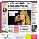 La copertina di Gazzetta d'Alba del 24 febbraio 2015