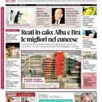 La copertina di Gazzetta d'Alba del 3 marzo 2015