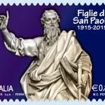 Un francobollo per il centenario delle Figlie di San Paolo