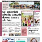 La copertina di Gazzetta d'Alba del 2 giugno 2015
