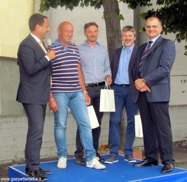 Da sinistra: Pierpaolo Carini, Biagio Taricco, Claudio Careglio, Mauro Saredi, Fulvio Baratella