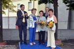 Da sinistra: Pierpaolo Carini, Carla Perotti, Adele Calorio, Bruna Massolino, Fulvio Baratella