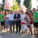 Alba, inaugurato lo spazio per gli sbandieratori al parco Tanaro