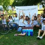All'A-bike per richiamare l'attenzione sui profughi