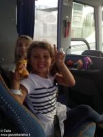 Con Ferrero a Expo _sul pullman verso casa