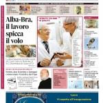La copertina di Gazzetta d'Alba dell'8 settembre 2015