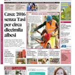 La copertina di Gazzetta d'Alba del 15 settembre 2015