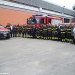 Delegazione dei Vigili del fuoco in visita agli impianti Egea
