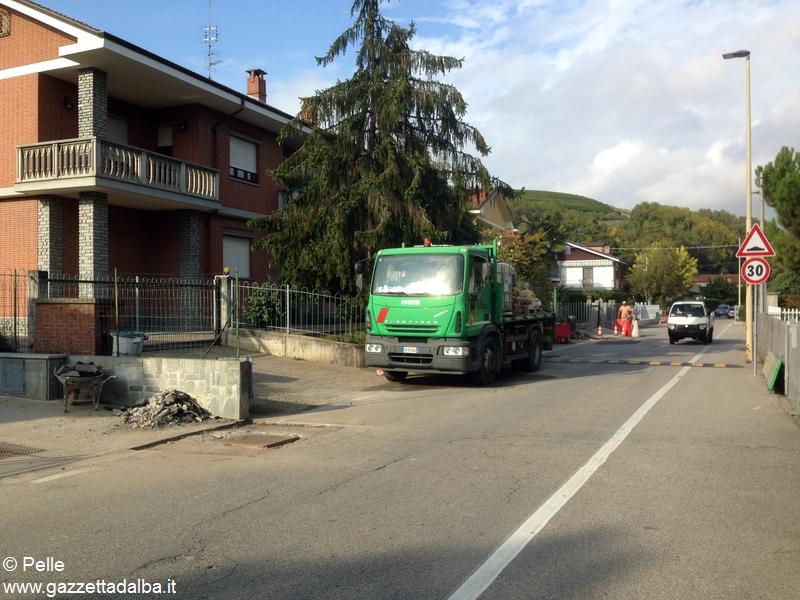 Mussotto lavori iniziati in strada Osteria