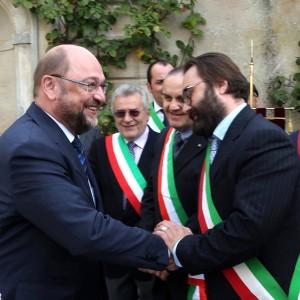 Martin Schulz accolto dai sindaci della Comunità collinare