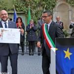 Il presidente del Parlamento europeo Schulz cittadino onorario di Monforte: «Qui è facile sentirsi a casa»