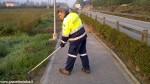 Protezione civile Canale pulisce la ciclabile (3)