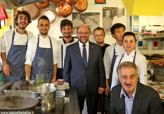 Il Presidente del parlamento europeo al ristorante Felicin di Monforte