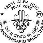 I 120 anni della Banca d'Alba celebrati con un annullo postale