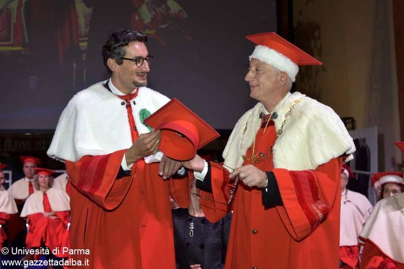 Giovanni Ferrero con il rettore Loris Borghi.