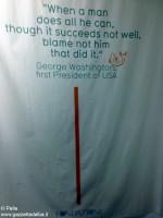 Il pensiero di George Washington.