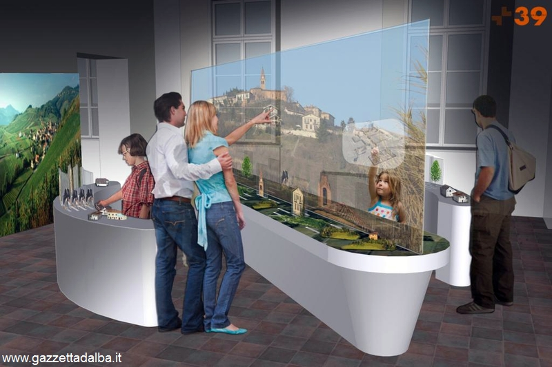 Ecco come si presentano alcune delle sale interne del museo Teatro del paesaggio