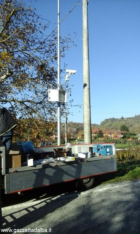 Una delle nuove telecamere installate a Baldissero