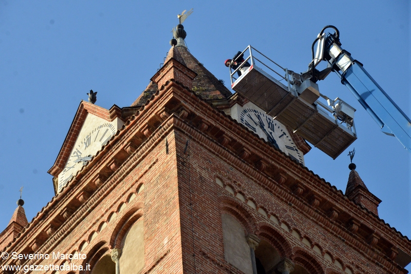 Alba campanile duomo con piattaforma 19