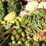 Frutta, verdura e vestiti usati lasciati a chi ne ha necessità