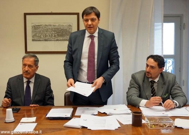 Da sinistra:  Renato Cigliuti, il presidente Andrea Ballarè e Marco Orlando.
