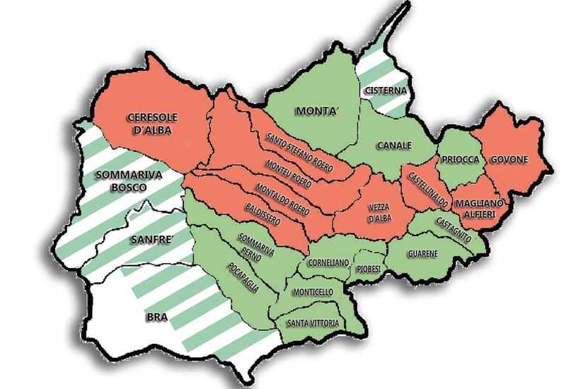 Cartina Roero