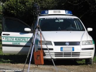 I vigili di Guarene controllano la velocità