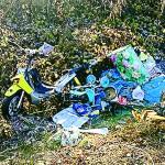 Rinvenuta una gran massa di rifiuti lungo il Tanaro