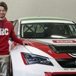 Alberto Viberti in pista con la Seat Leon del team Brc