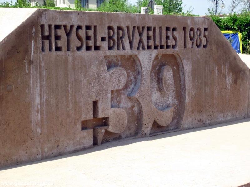 Inaugurato il monumento alle vittime dello stadio Heysel 2