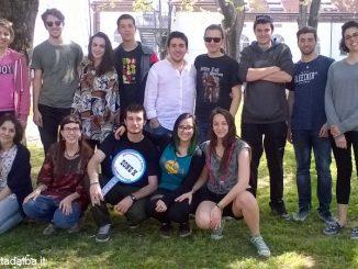 II Forum giovani di Alba e,  a destra, l'assessore Anna Chiara Cavallotto