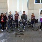 Studenti spagnoli sulle bici riparate dal Cfp Salesiano