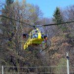 Elicottero sorvola l'Albese per monitorare le linee Enel