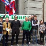 Basta tagli indiscriminati alle poste, la Lega Nord manifesta a Cuneo